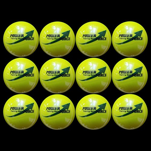 """Power Force (12 Softballs) - 3.25"""" Dia. 15oz - Weighted Training Softballs for Hitting Practice"""