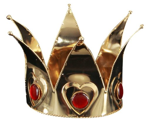 Gold Queen of Hearts Crown by (Queen Of Hearts Wonderland)