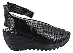 Bernie Mev Women S Mely Synthetic Casual Shoes Black Snake Print 40