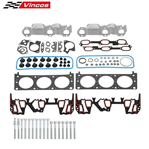 - Vincos Cylinder Head Gasket w/Bolts kit Compatible with Buick Century Pontiac Grand Prix 00-03 Compatible with Chevy Lumina Malibu 99 Replacement For Oldsmobile Cutlass 99-03 V6 3.1l