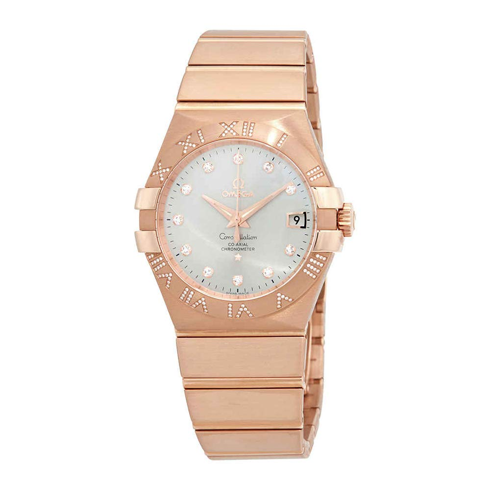 Amazon Com Omega Constellation Rose Gold Automatic Mens Watch
