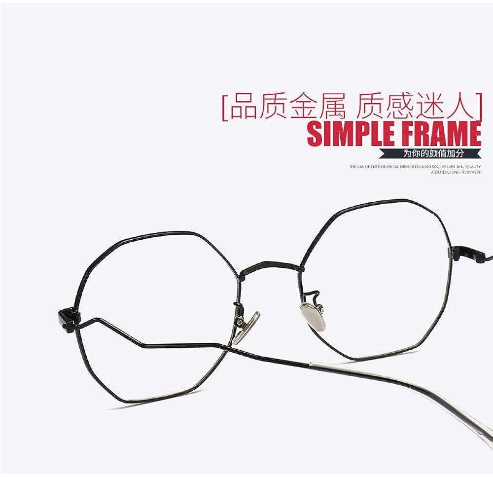 Anti-Blu-Ray Glasses Polygon Flat Mirror Eye Protection Personality Trend No Degree