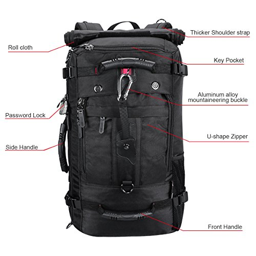 Password Trekking Outdoor Camping 40L Military Backpack Business Lock Pack Large Backpack Hiking Waterproof with Green Backpack Hiking Travel Sport 0aHIw8qx