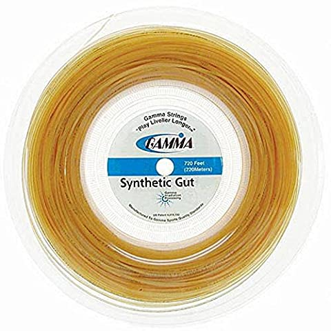 Gamma Sports 16g Synthetic Gut Tennis String Reel, 720', Gold - 18 Tennis String Reel