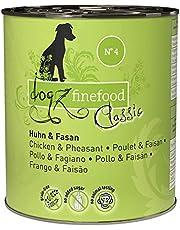 dogz finefood Hondenvoer nat - N° 4 kip & Fasan - fijn voer nat voer voor honden en puppy's - graanvrij & suikervrij - hoog vleesgehalte, 6 x 800 g doos