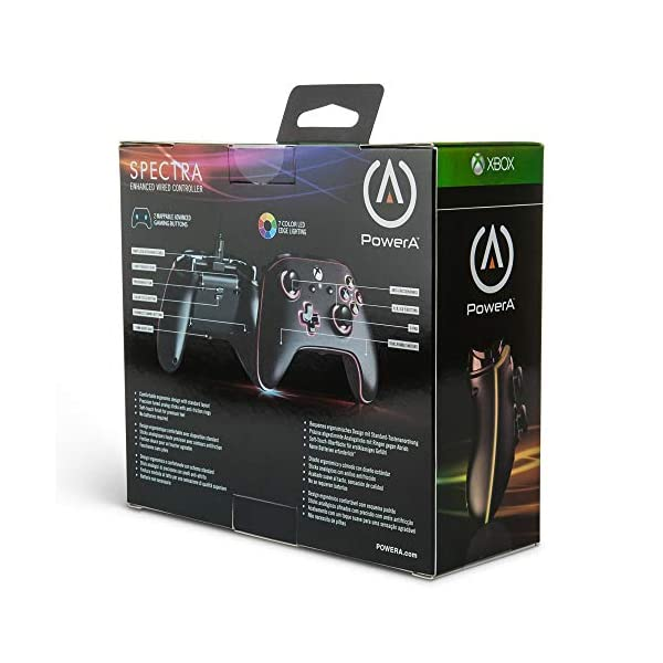 PowerA Spectra Enhanced Illuminated Wired Controller for Xbox One, X and Xbox One S - Xbox One 4