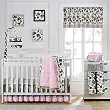 Laugh, Giggle & Smile Versailles Baby Crib Bedding Set, Pink, 8 Pounds