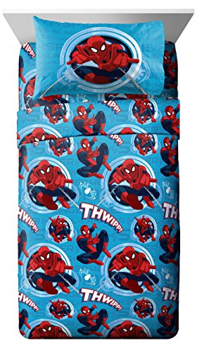 Marvel Spiderman 'Spider Leap' 3 Piece Twin Sheet Set (Twin 3 Sheet Piece)