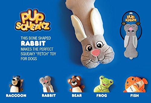 Pup Squeakz Rabbit Dog Toy