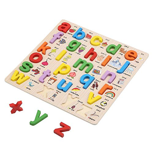 - Baby Letter Puzzle Toy, 3D Wooden Alphabets Board Jigsaw Toy Toddlers Educational Tool Children Early Learning Plaything Intelligent Improvement Games Gift for Toddlers Kids(Lowercase)