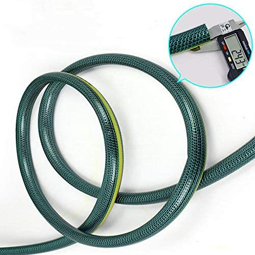 XIAOLIN 3-Layer Flexible PVC Wear-resistant Antifreeze Water Pipe Garden Watering Flowers Hose With Anti-Algae Coating (Size : 15m)