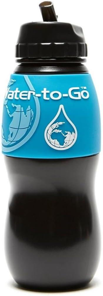 75/cl nero//blu Water-to-Go/ /Bottiglia con filtro