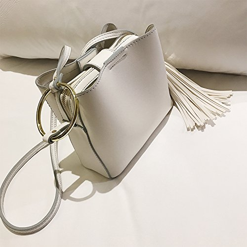 Mode white Sacs Simple Pompons Sacs incliné l'épaule Les Sacs ZHANGJIA Sacs de Rice Petits qHBSwwA