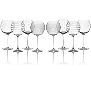 Mikasa Cheers Balloon Goblet Wine Glass, 24.5-Ounce, Set of 4 (Pack of 2)