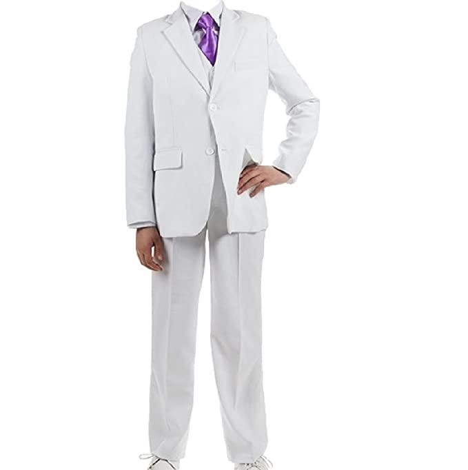 New Fashion - Traje - para niño blanco uni weiss: Amazon.es ...