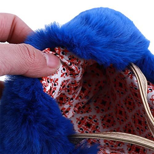En À Lovely Enfant Girl Main Peluche Pour Coin Rose Sac Nyaole Purse Bandoulière Bleu Peluche Avec Clair qF50UvwI