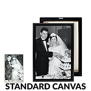 Your Photo Professionally Restored, Printed, and Framed on Premium Canvas - Standard Size