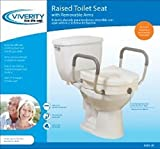 Viverity - Locking Raised Toilet Seat with Arms - CM