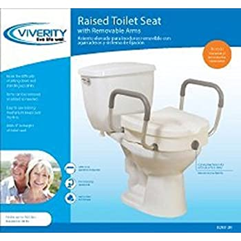 Amazon Com Viverity Locking Raised Toilet Seat With