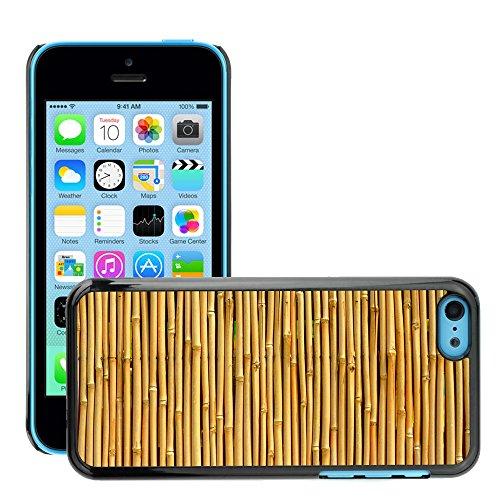 Premio Sottile Slim Cassa Custodia Case Cover Shell // V00002776 Texture Bamboo // Apple iPhone 5C