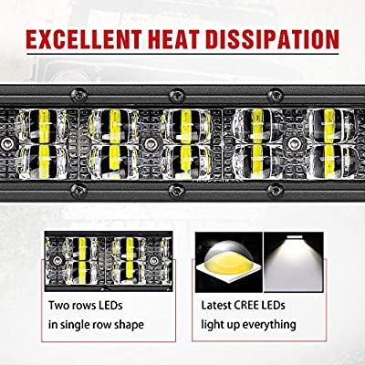 6 Inch LED Light Bar, Teochew-LED 2Pcs Slim Light Bar Spot LED Pods Lights Off Road Driving Lights for Truck Offroad UTV ATV SUV Tractor Boat: Automotive