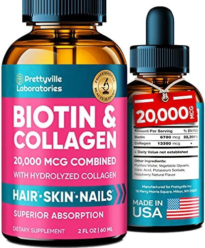 Liquid Biotin & Collagen for Hair Growth...
