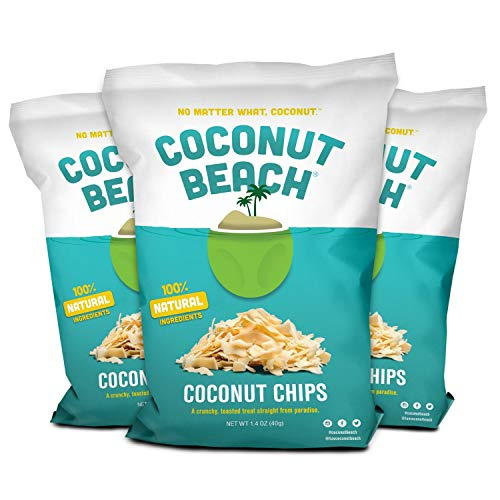 Coconut Beach® Toasted Coconut Chips, 3-Pack (Gluten Free/ non-GMO) (Chip Non)