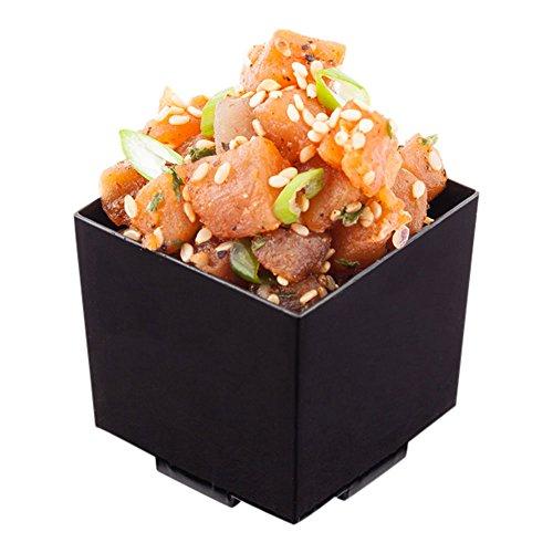 Short Quadrato Cup, Short Dessert Cup, Short Appetizer Cup - Solid Plastic - 3 oz - Black - 100ct Box - Restaurantware