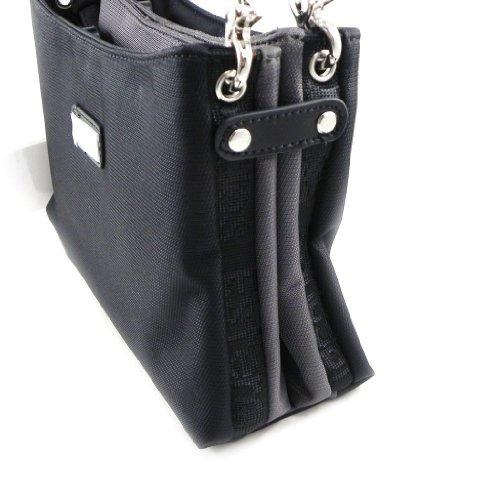 Bolsa reversible 'Jacques Esterel' negro, gris.