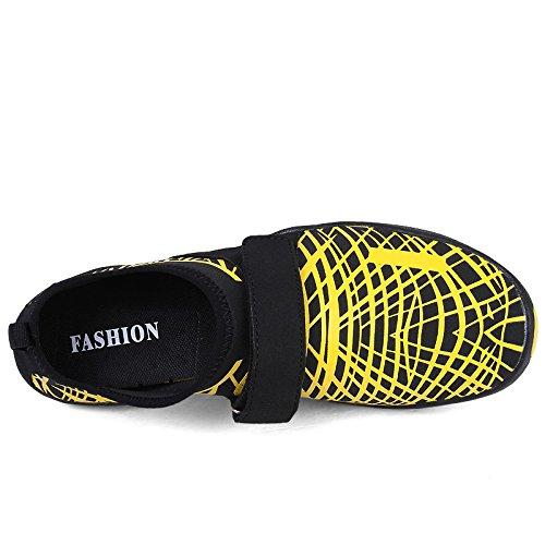 Fastar zapatos de agua de natacion para hombre Zapatillas chanclas Zapatos de playa Verano Unisex Amarillo