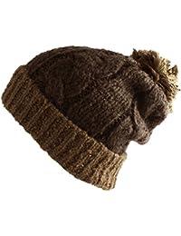 6e020461b7ad3 Multi Color Pom Pom Crochet Thick Knit Slouchy Beanie Beret Winter Ski Hat
