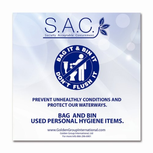 - S.A.C LP4020 Adhesive Do Not Flush Restroom Sign, 5