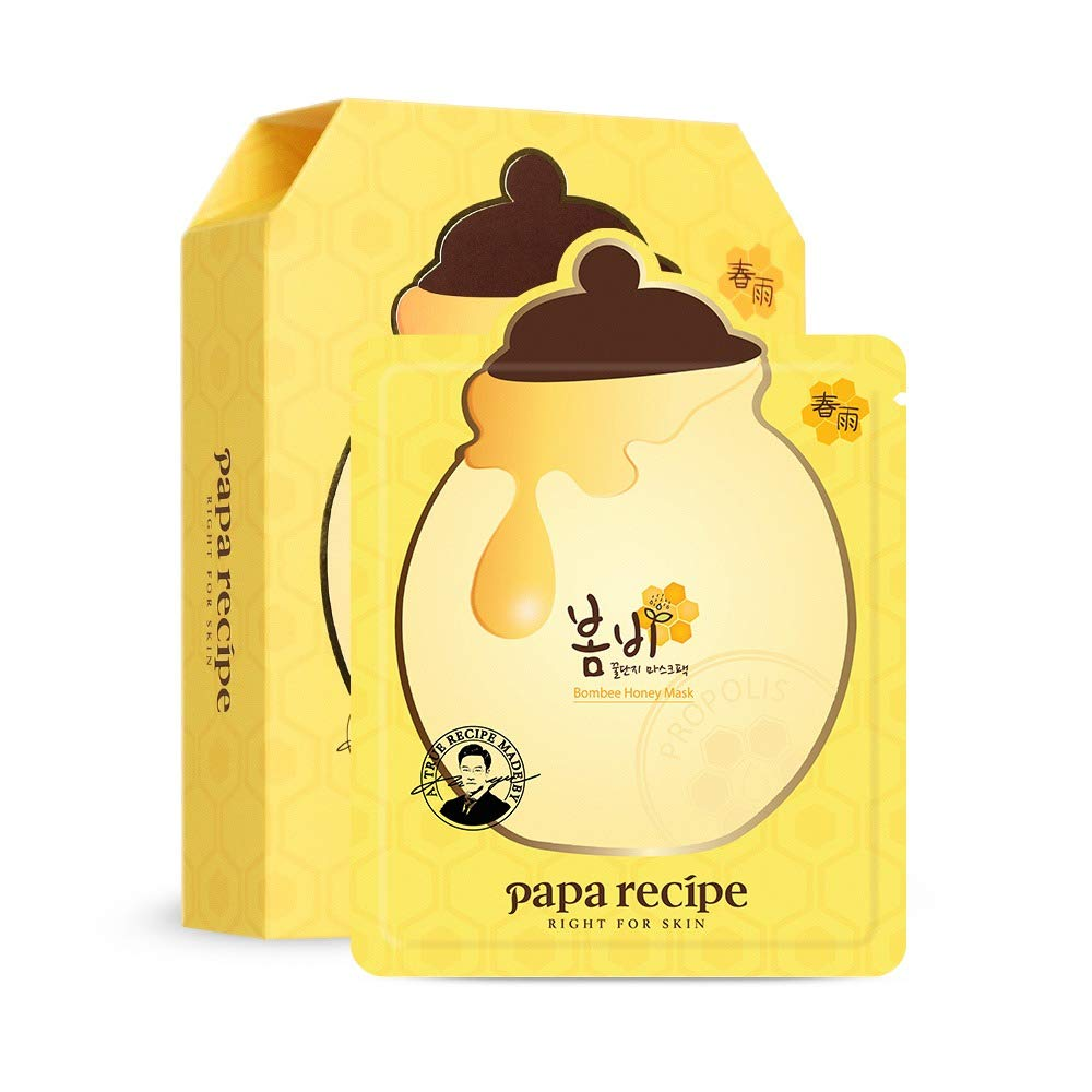 [Papa Recipe] Bombee Honey Mask Pack, 1 Pack/10 Sheets, 0.88 Ounce by Papa Recipe