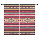 CafePress - Southwest Red Serape Saltillo - 60'' Decorative Window Curtains, Sheer Drapery Window Treatment
