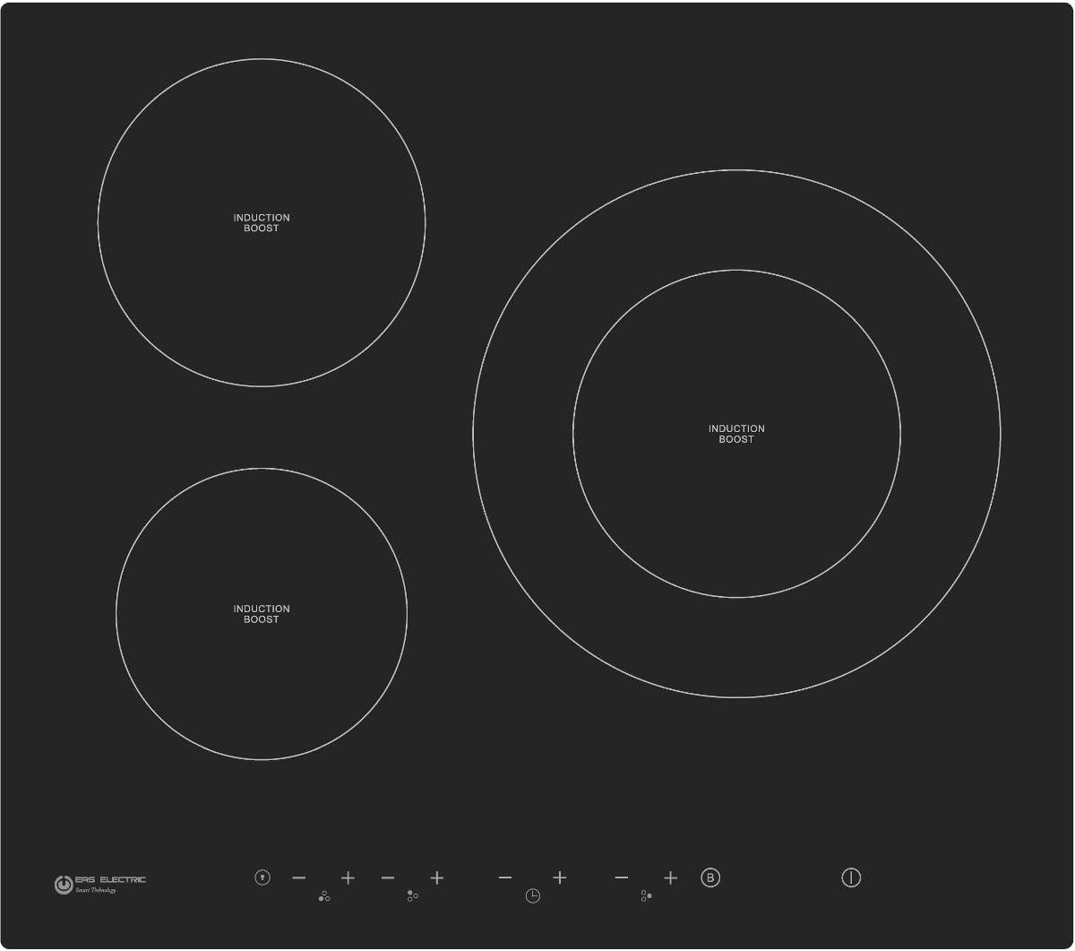 Placa de inducción Cristal Eas Electric EMIH280-3F 3 zonas