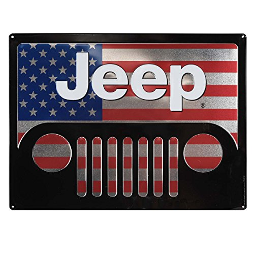 Open Road Brands- Jeep Grill America Retro Vintage Metal Tin Sign