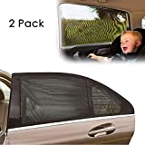 KKTICK Car Sun Shade, Car Side Window Shade Premium Breathable Mesh Sun Shield Protect Your Kids and Pets in The Back Seat from UV Rays Fit for Most SUVs and Cars (2 Packs, L)