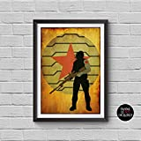The Avengers Bucky Barnes Minimalist Vintage Poster Avengers Collectibles Print Sebastian Stan Winter Soldier Artwork Home Decor Wall Hanging Cool Gift -  Cubic Prints