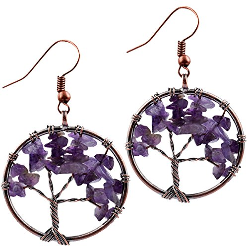 SUNYIK Purple Amethyst Tree of Life Dang - Deep Purple Stone Shopping Results