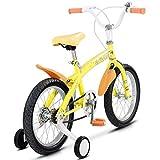 FDInspiration Yellow 45'' x 31.5'' Metal Frame Kids Bike w/Training Wheels with Ebook
