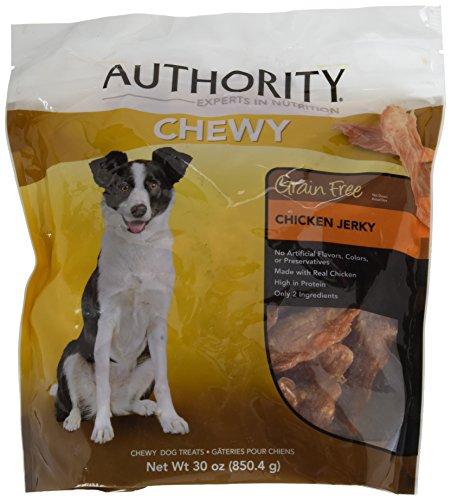 Authority Grain Free Chewy Dog Treats,Chicken Jerky, 30oz