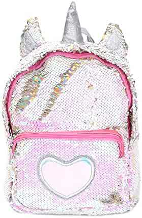 5efcd69aa3 Starte PU Bling Toddler Unicorn Backpack for Girls Trave School Mini  Backpack for Women Sequins Critter