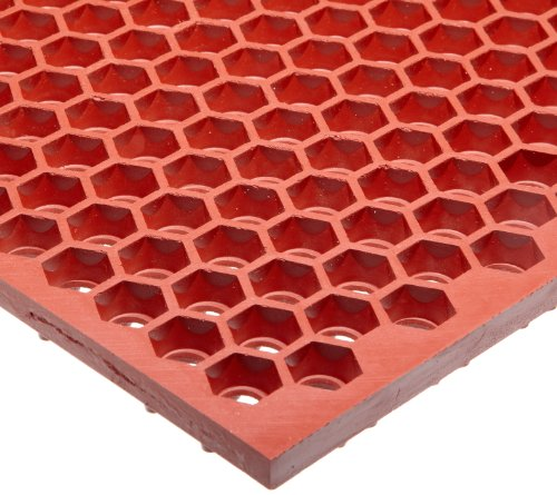 Notrax – T15S0032RD T15 Optimat Honeycomb Design Drainage Mat, 2′ X 3′ Red