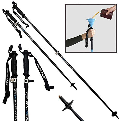 WhiSki Poles SKI Pole Flask - Adjustable & Lightweight - Telescopes 36