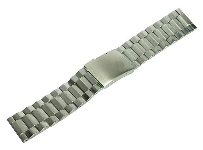 ccessory 24 mm Metal de Acero Inoxidable Reloj Correa de la Banda ...