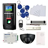 New Generation Fingerprint RFID Access Control Kit with Exit Motion Sensor+280kg force Electric Magnetic Lock+110V Power Supply