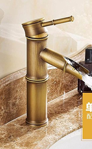 M Gyps Faucet Basin Mixer Tap Waterfall Faucet Antique Bathroom Mixer Bar Mixer Shower Set Tap antique bathroom faucet Water faucet basin of hot and cold single hole single handle mixer bathroom M,Mode