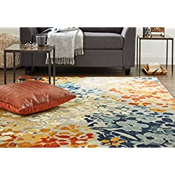 Mohawk Home Aurora Radiance Abstract Floral Printed Area Rug, 5'x7', Multicolor