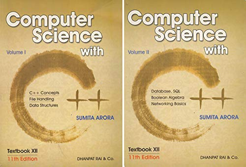 Computer Science With C++ Class : XII (Set Of 2 Vols)
