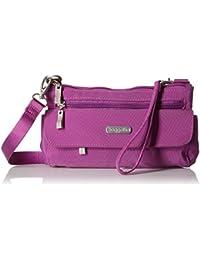 Plaza Mini Crossbody Bag – Lightweight Nylon, Adjustable Crossbody Wallet Bag with Removable Wristlet Strap